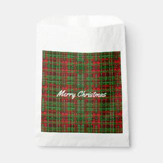 Christmas plaid favour bag
