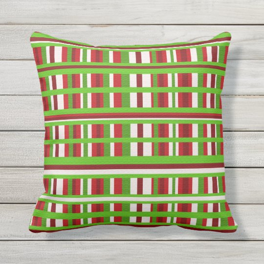 Christmas Plaid Outdoor Pillow