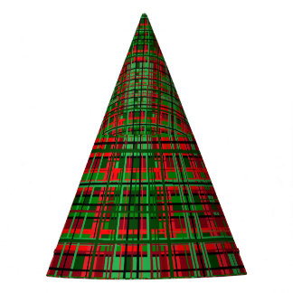 Christmas plaid party hat