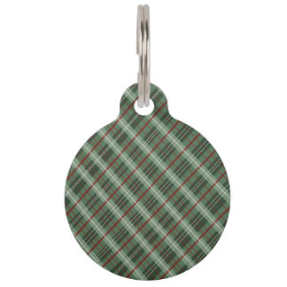 Christmas Plaid Pet Name Tag