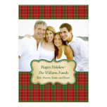 Christmas Plaid Photo Card Custom Invitation