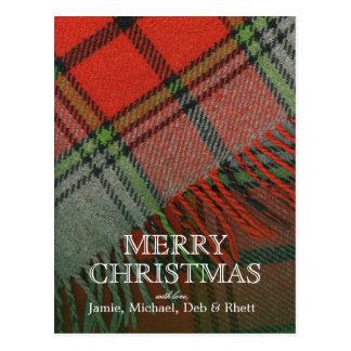 Christmas Plaid Postcard