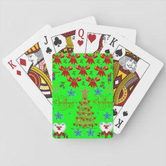Christmas playing card deck green light