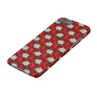 Christmas Poinsettia Barely There iPhone 6 Case