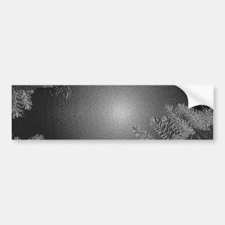 Christmas Poinsettia Black And Grey Car Bumper Sticker