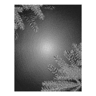 Christmas Poinsettia Black And Grey Custom Flyer