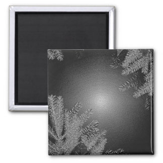 Christmas Poinsettia Black And Grey I Magnet