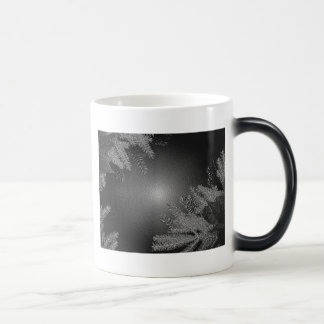 Christmas Poinsettia Black And Grey III Morphing Mug
