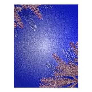 Christmas Poinsettia Blue Custom Flyer