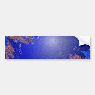 Christmas Poinsettia Blue I Car Bumper Sticker