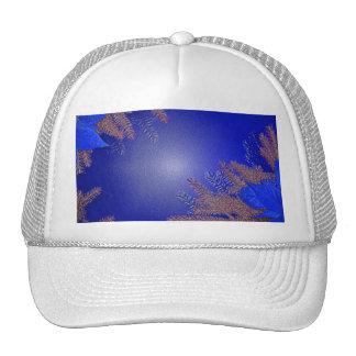 Christmas Poinsettia Blue VIII Trucker Hats