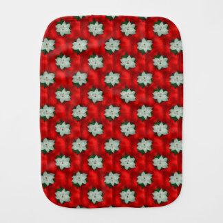 Christmas Poinsettia Burp Cloth