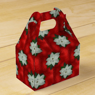 Christmas Poinsettia Favor Box