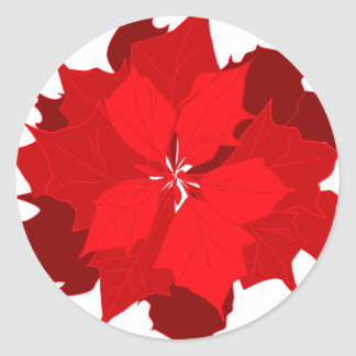 Christmas poinsettia graphic seasonal sticker