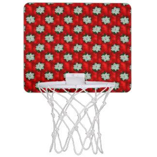 Christmas Poinsettia Mini Basketball Hoop