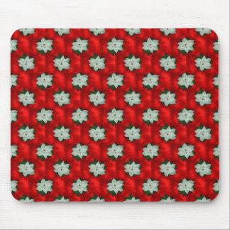 Christmas Poinsettia Mouse Pad