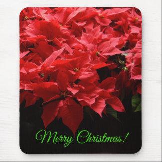 Christmas Poinsettia Mousepad
