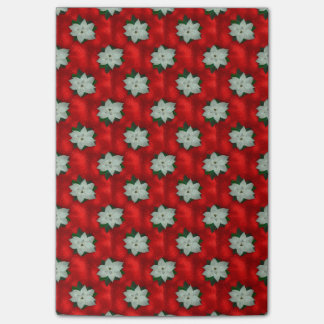 Christmas Poinsettia Post-it Notes