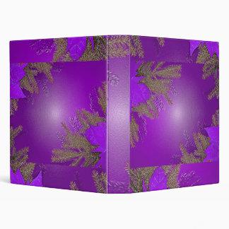 Christmas Poinsettia Purple 3 Ring Binder
