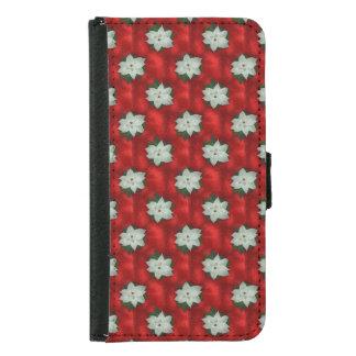 Christmas Poinsettia Samsung Galaxy S5 Wallet Case