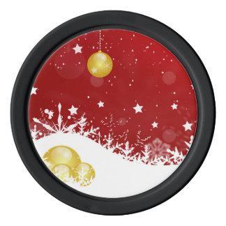Christmas Poker Chips Set