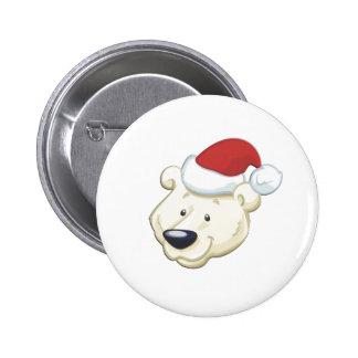 Christmas Polar Bear 2 Inch Round Button