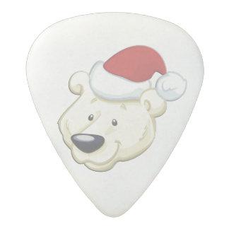 Christmas Polar Bear Acetal Guitar Pick