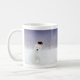 Christmas Polar Bear Basic White Mug