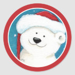 Christmas Polar Bear Envelope Seal Stickers