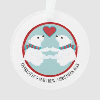 Christmas Polar Bear Personalized Photo Ornament