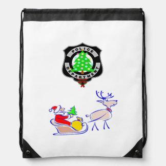 Christmas Police Dept Cinch Bags