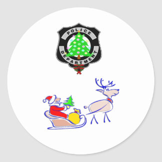 Christmas Police Gifts Stickers