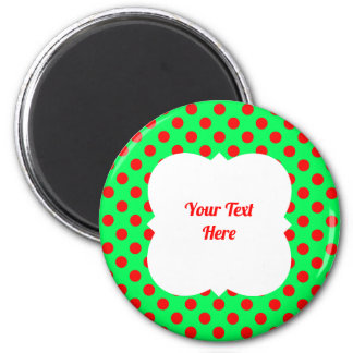 Christmas polka dot red/green magnet