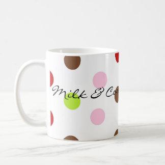 Christmas Polka Dots, Milk & Cookies for Santa Coffee Mug