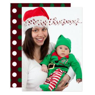 Christmas Polka dots & Stripes Photo Card