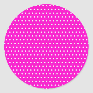 Christmas polka hots dots dabbed samples scores classic round sticker