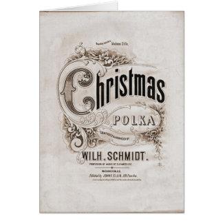 Christmas Polka Vintage Holiday Card
