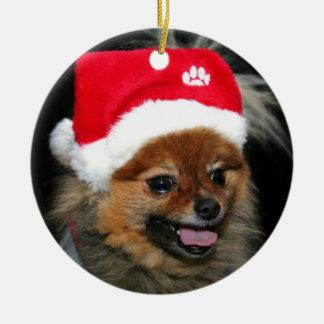 Christmas Pomeranian ornament