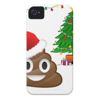 christmas poo emoji iPhone 4 Case-Mate cases
