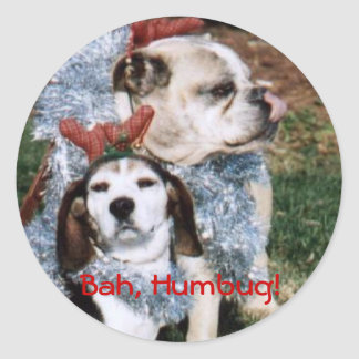 Christmas Pooch Sticker