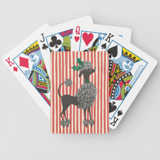 Christmas Poodle Bicycle Playing Cards