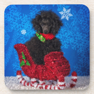 Christmas Poodle Coaster