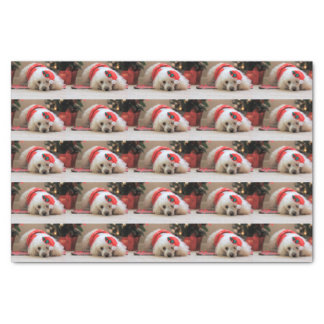 Christmas Poodle dog tissue paper