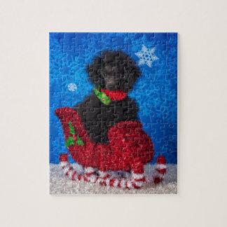 Christmas Poodle Jigsaw Puzzle