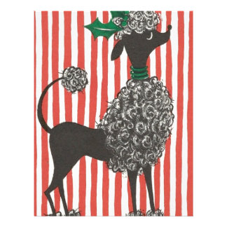 Christmas Poodle Letterhead Template