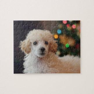 Christmas poodle puppy puzzle