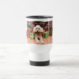 Christmas - Poodle - Riley Travel Mug