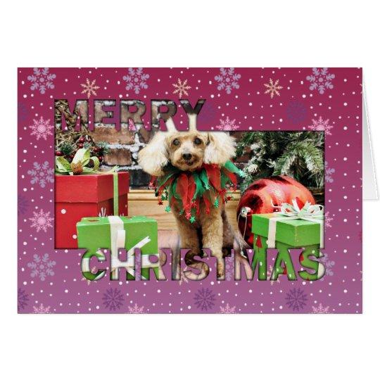 Christmas - Poodle - Sam Card