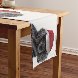 Christmas poodle table runner
