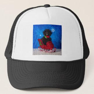 Christmas Poodle Trucker Hat